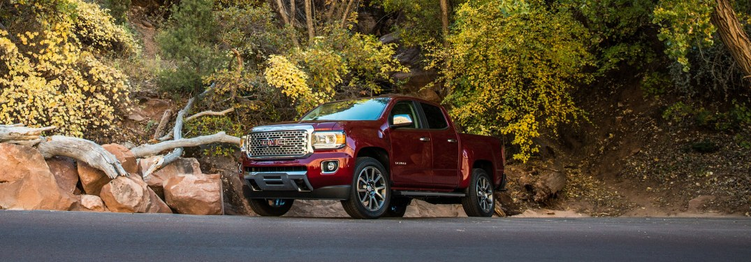 2018 GMC Canyon red side view