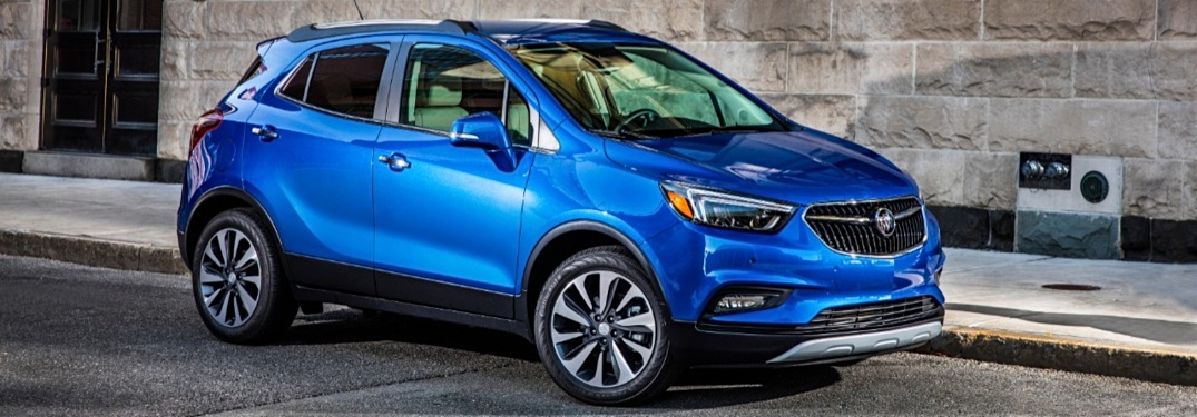 2019 Buick Encore blue side view