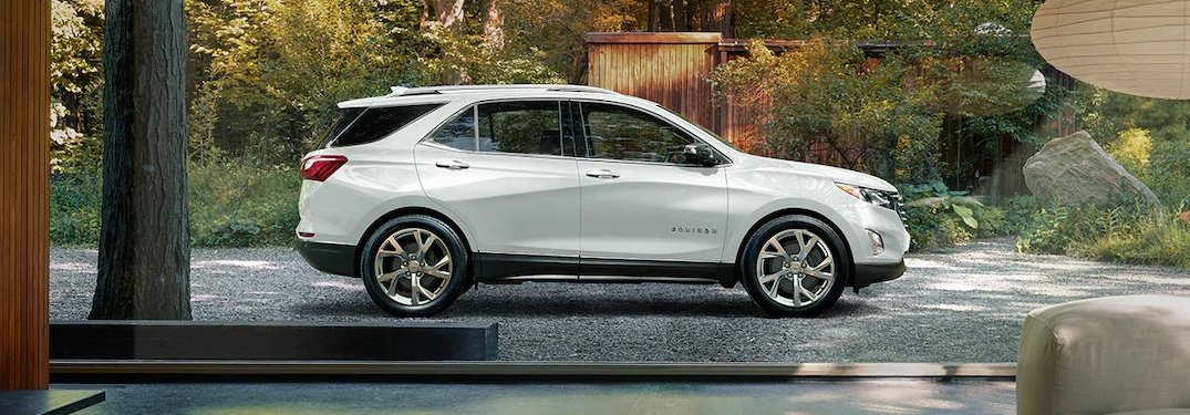 2019 Chevy Equinox white side view