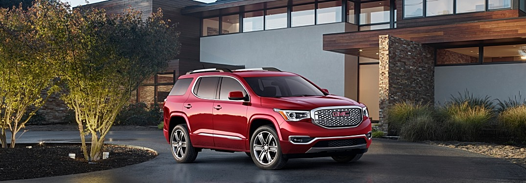 2019 GMC Acadia red side view