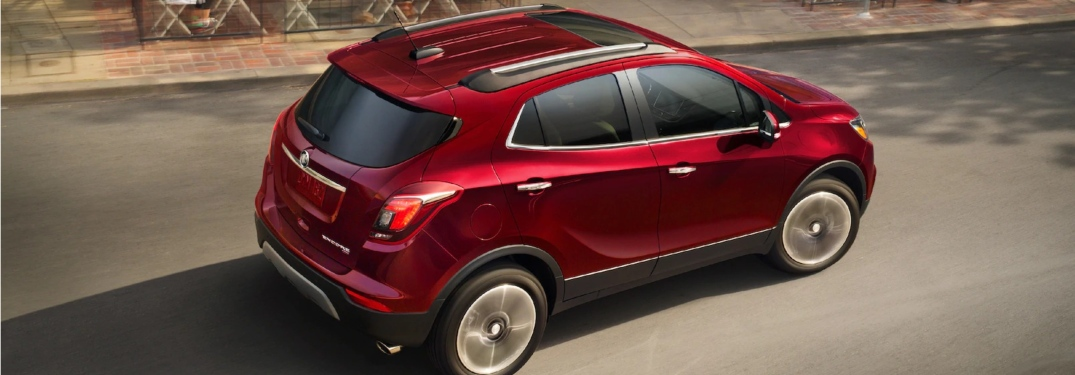 2019 Buick Encore Winterberry Red Metallic top side view