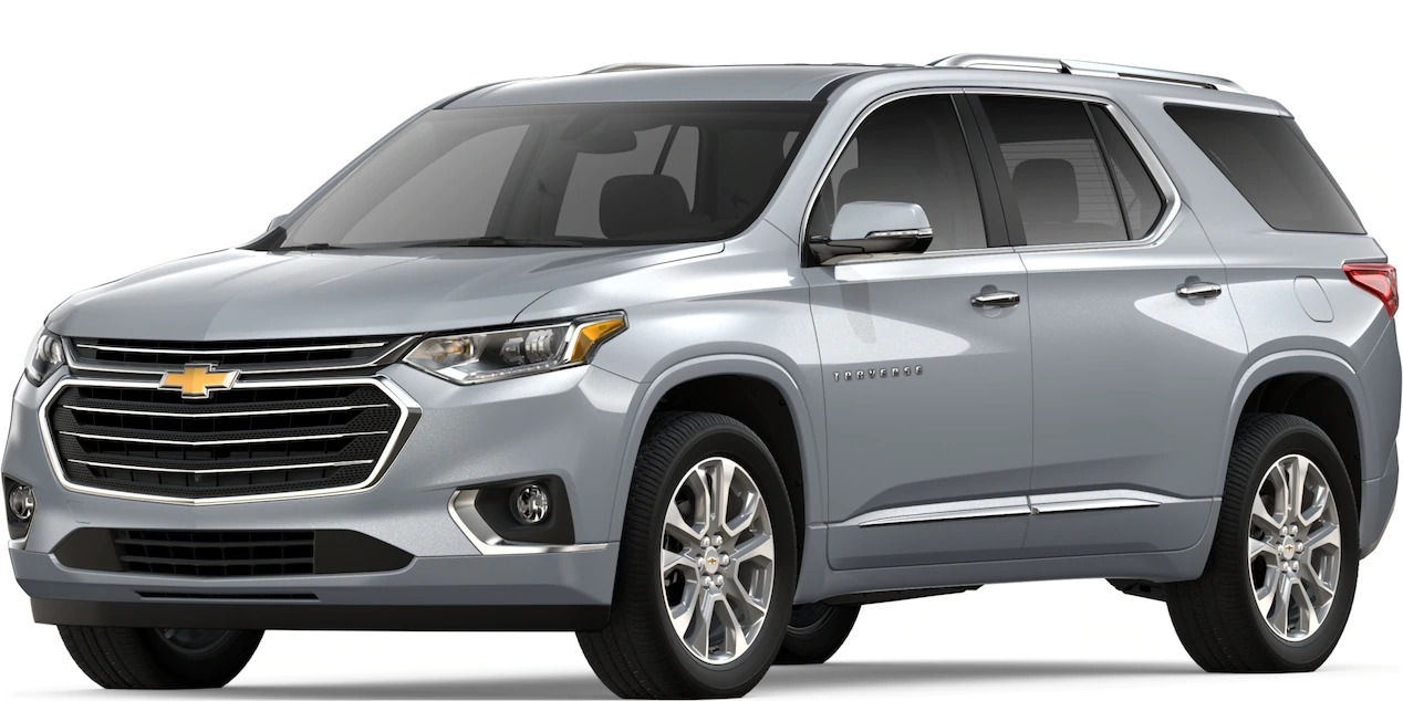 2019 Chevy Traverse Silver Ice Metallic side view