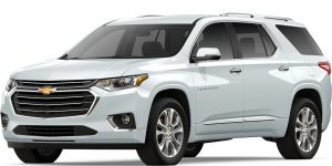 2019 Chevy Traverse Summit White Side View O Holiday