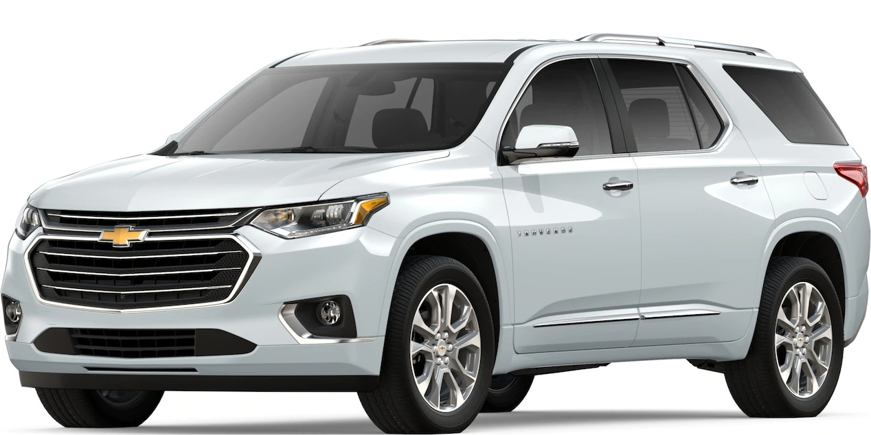2019 Chevy Traverse Summit White side view