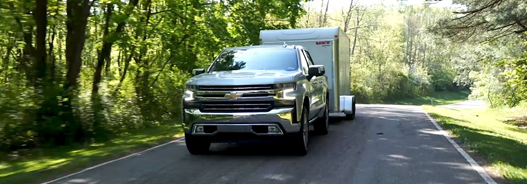 2019 Chevy Silverado 1500 with a trailer
