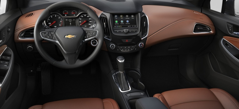 2019 Chevy Cruze Umbra brown interior