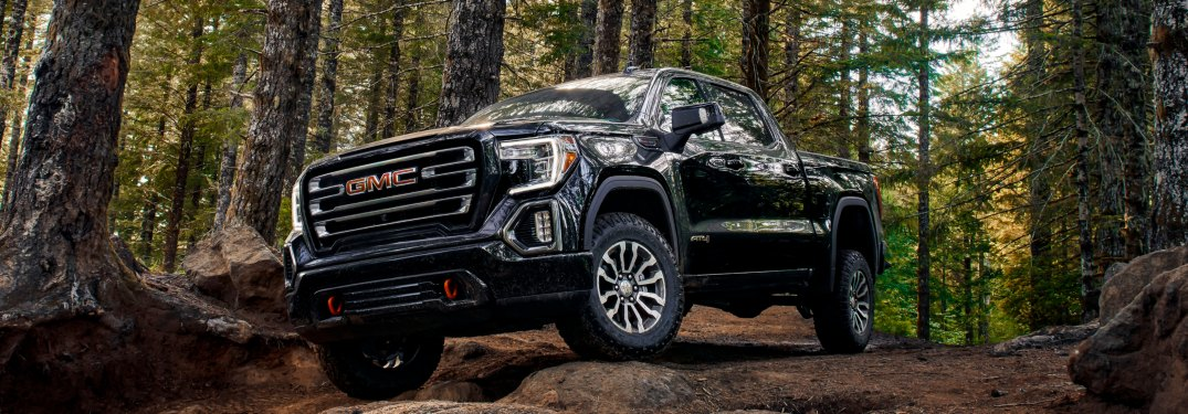 2019 GMC Sierra AT4 black front view