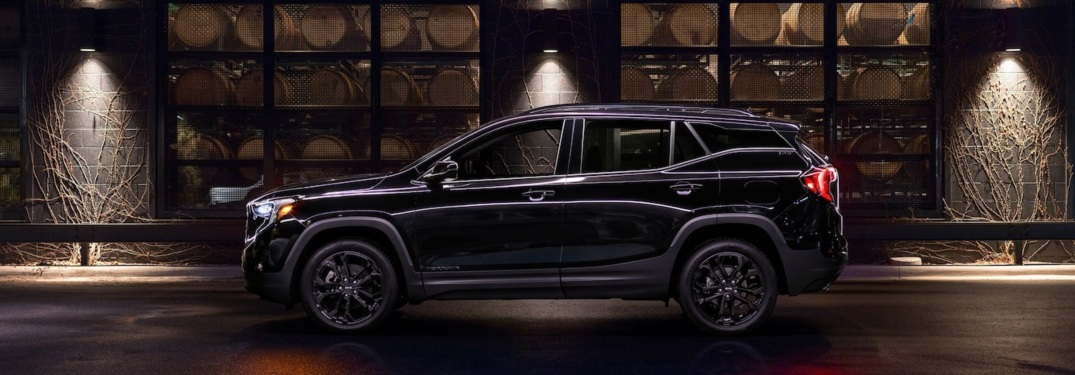 2019 GMC Terrain black side view