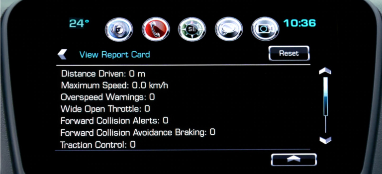 Chevy Teen Driver Technology report card