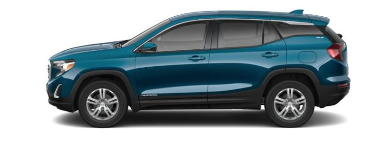 2019 GMC Terrain Blue Emerald Metallic side view