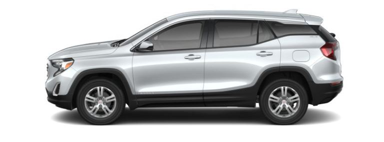 2019 GMC Terrain Quicksilver Metallic side view