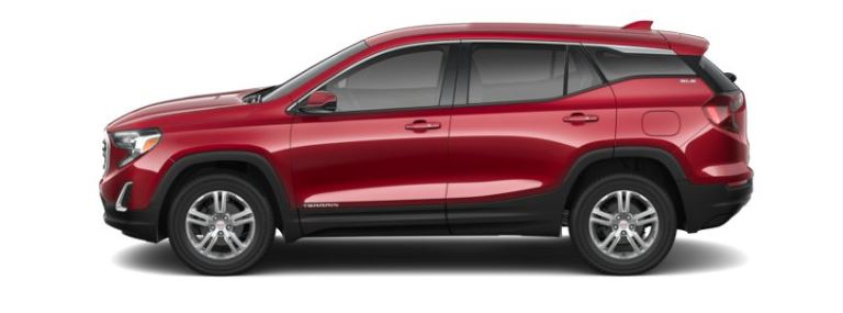 2019 GMC Terrain Red Quarts Tintcoat side view