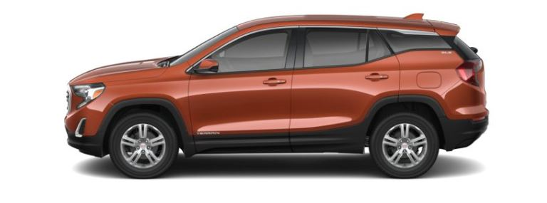 2019 GMC Terrain Sedona Metallic side view