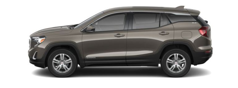 2019 GMC Terrain Smokey Quartz Metallic side view