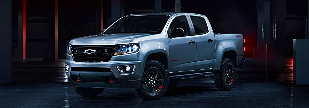 2019 Chevy Colorado silver side view black background