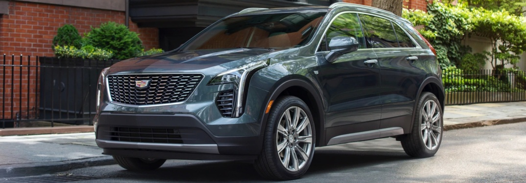 2019 Cadillac XT4 blue side view