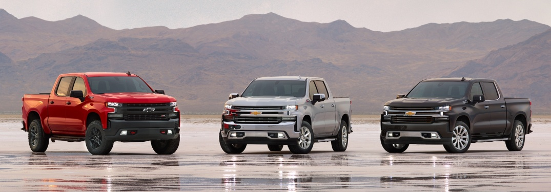 2019 Chevy Silverado lineup red white and black