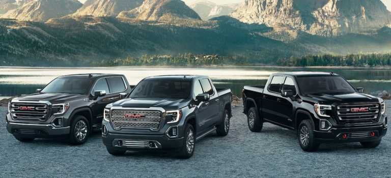 2019 GMC Sierra lineup gray blue and black