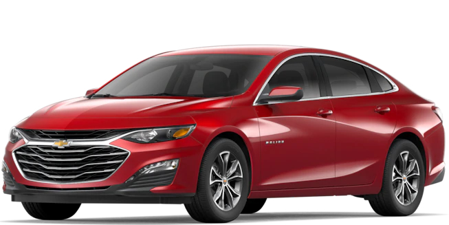 2019 Chevy Malibu Cajun Red Tintcoat side view