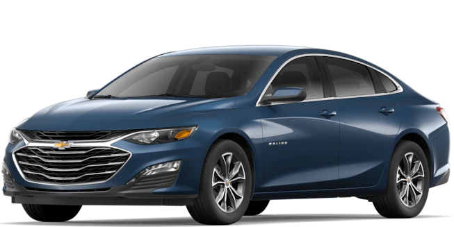 2019 Chevy Malibu Northsky Blue Metallic side view