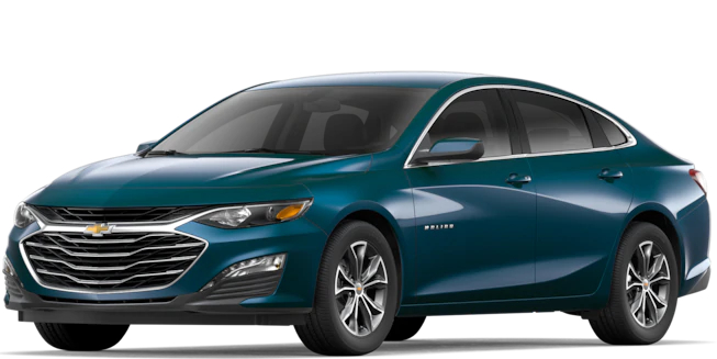 2019 Chevy Malibu Pacific Blue Metallic side view