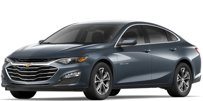 2019 Chevy Malibu Shadow Gray Metallic side view