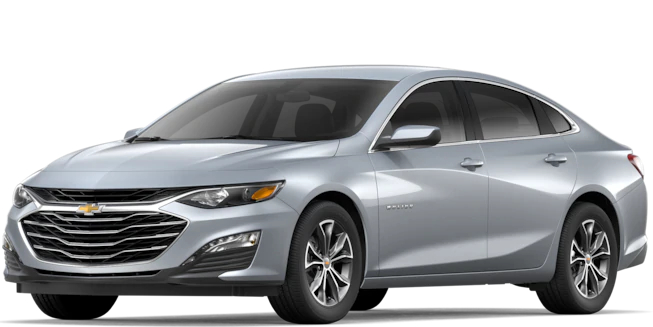 2019 Chevy Malibu Silver Ice Metallic side view
