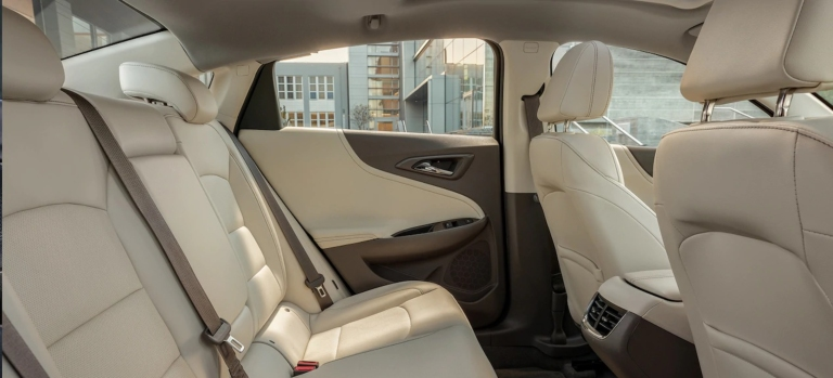 2019 Chevy Malibu tan leather interior
