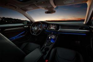 Ambient lighting in the interior of the 2019 Volkswagen Jetta