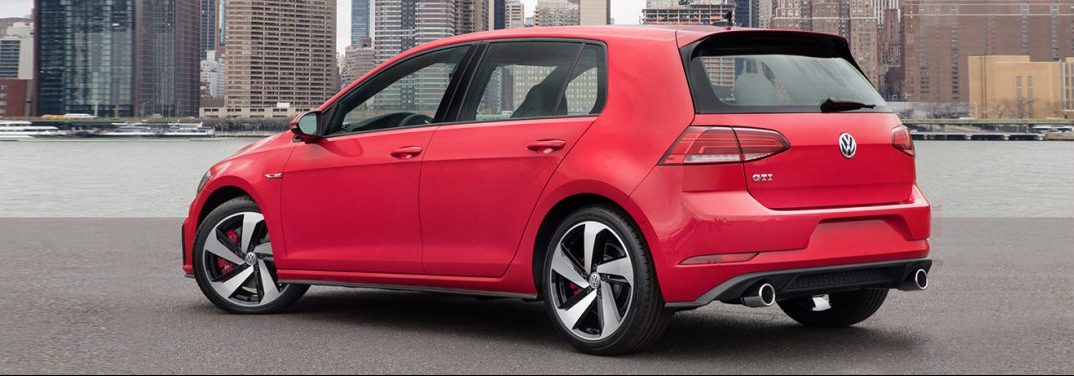 rear view of the 2018 VW Golf GTI