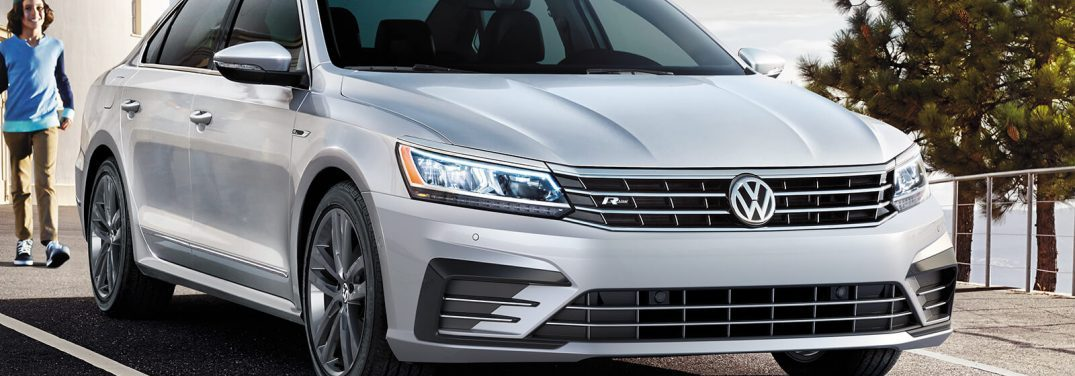 front of the 2019 VW Passat