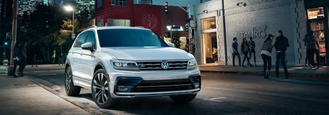2019 VW Tiguan parked on a city street
