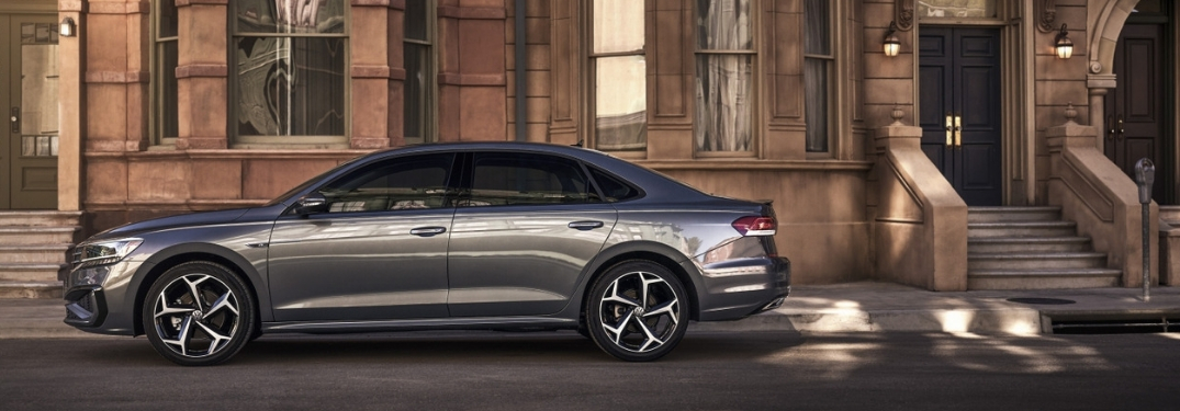 2020 VW Passat parked outside a city home