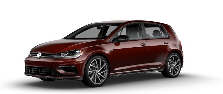2019 Volkswagen Golf R Bordeaux Red side view
