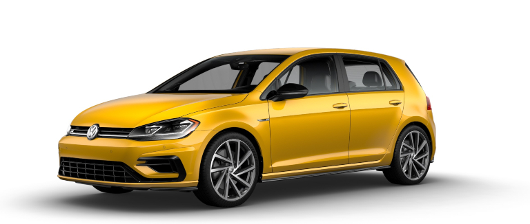 2019 Volkswagen Golf R Ginster Yellow side view