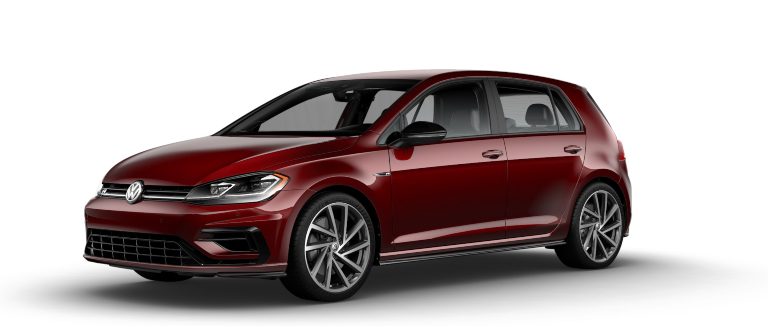 2019 Volkswagen Golf R Hot Chili Pearl side view