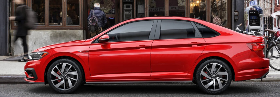 2019 Volkswagen Jetta GLI red side view