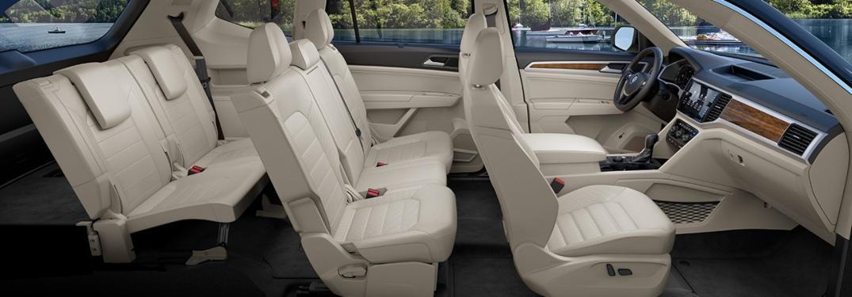 2019 Volkswagen Atlas interior tan side view