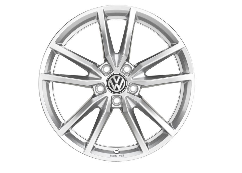 """Sterling silver 18"""" pretoria wheel for the 2019 Volkswagen Golf GTI."""