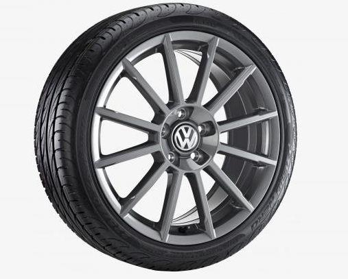 "Anthracite 18"" rotary wheel for the 2019 Volkswagen Golf GTI."