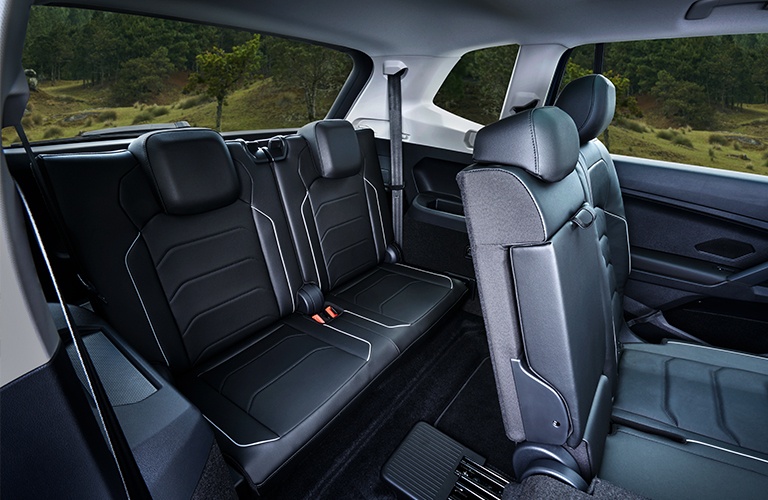 Rear seats inside a 2020 Volkswagen Tiguan