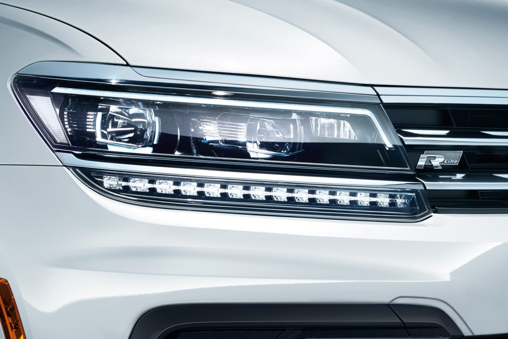 Close-up on an LED taillight of the 2020 Tiguan