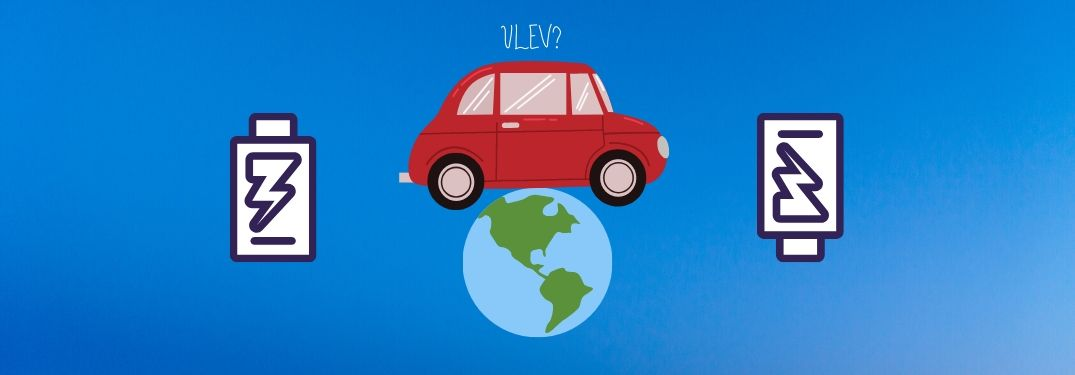The word ULEV is scrawled above iconography that brings associations of the ways in which cars impact the environment via emissions