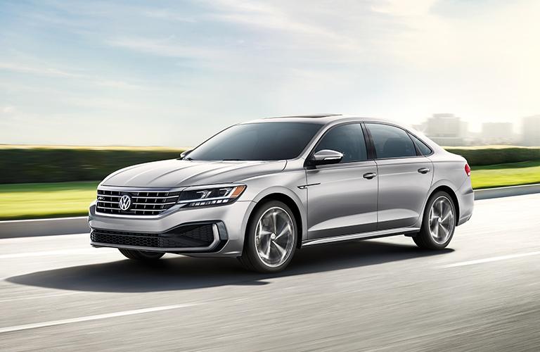2020 Volkswagen Passat races sleekly down a highway