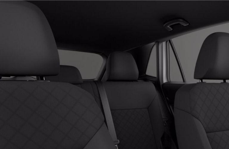 Titan Black Cloth Interior of a interior of a 2020 Volkswagen Atlas Cross Sport