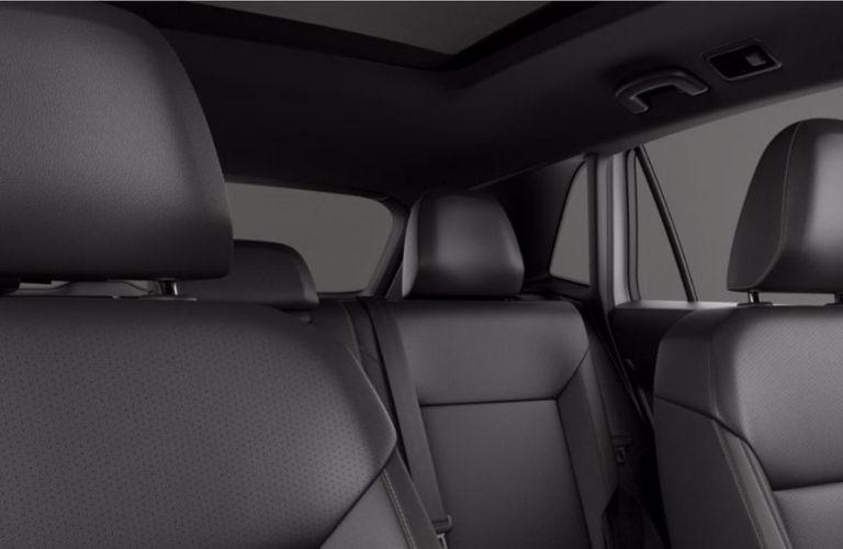 Titan Black V-Tex Leatherette interior of a 2020 Volkswagen Atlas Cross Sport