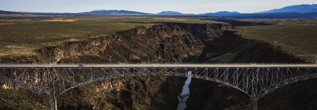 Bridge stretches across a canyon in Taos, New Mexico