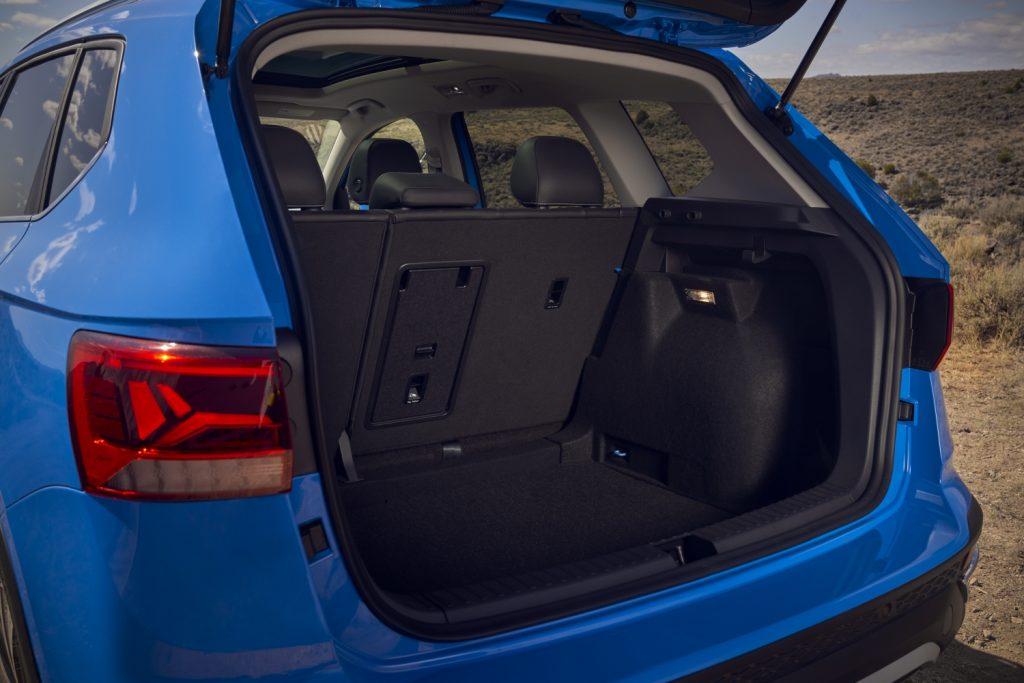 Cargo area of a 2022 Volkswagen Taos