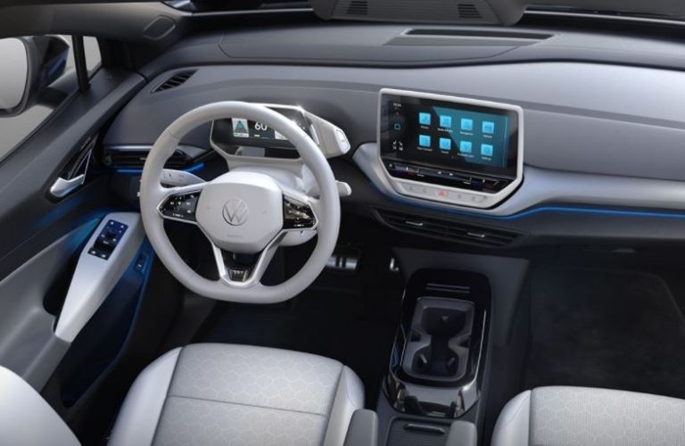 Volkswagen ID.4 interior dash an wheel