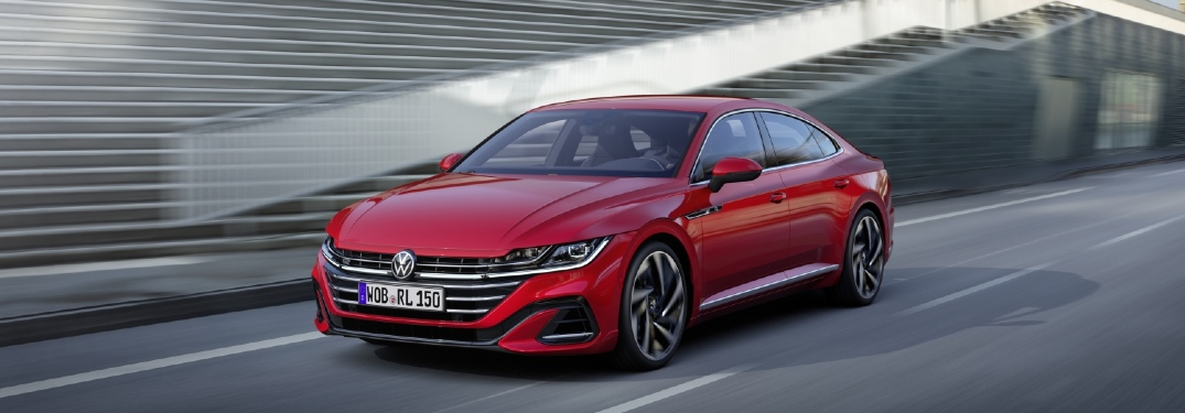 Red 2021 Arteon on a highway